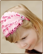 Lt Pink/Hot Pink Feather Headband