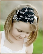 Black/White Feather Headband