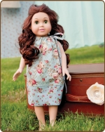 18 inch Doll Pillowcase Dress - Cottage Flowers