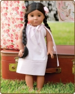 18 inch Doll Pillowcase Dress - Pale Pink