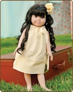 18 inch Doll Pillowcase Dress - Pale Yellow