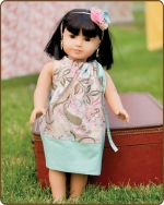 18 inch Doll Pillowcase Dress - Pink/Blue/Green
